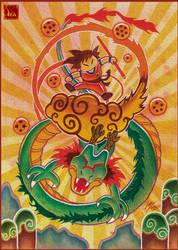 Goku and Shen Long by Ikanana