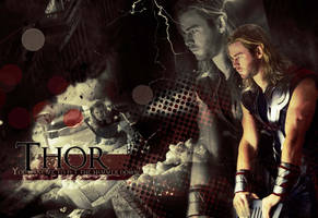 Thor God of Thunder wallypaper by CreamCup-A-Cake