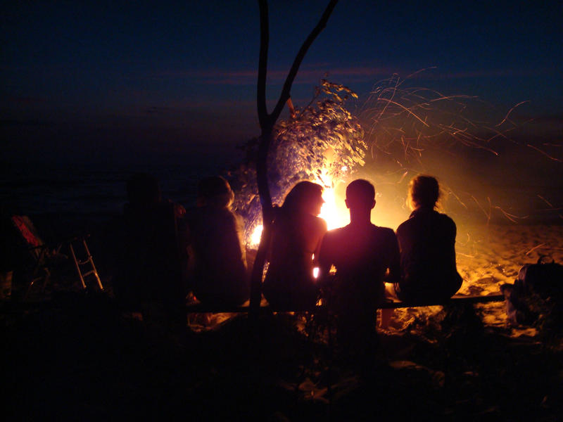 Beach Bonfire by anarsil