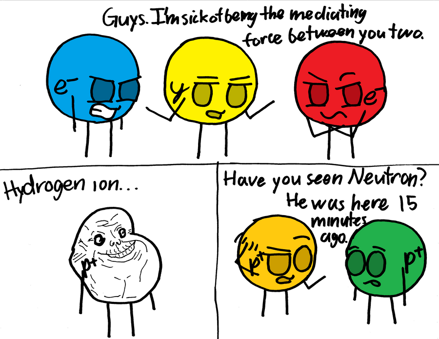 Just a Couple of Particle Puns by KidsAndKittehs