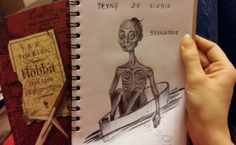Gollum - Pen in sketchbook. by Zuzarysowana
