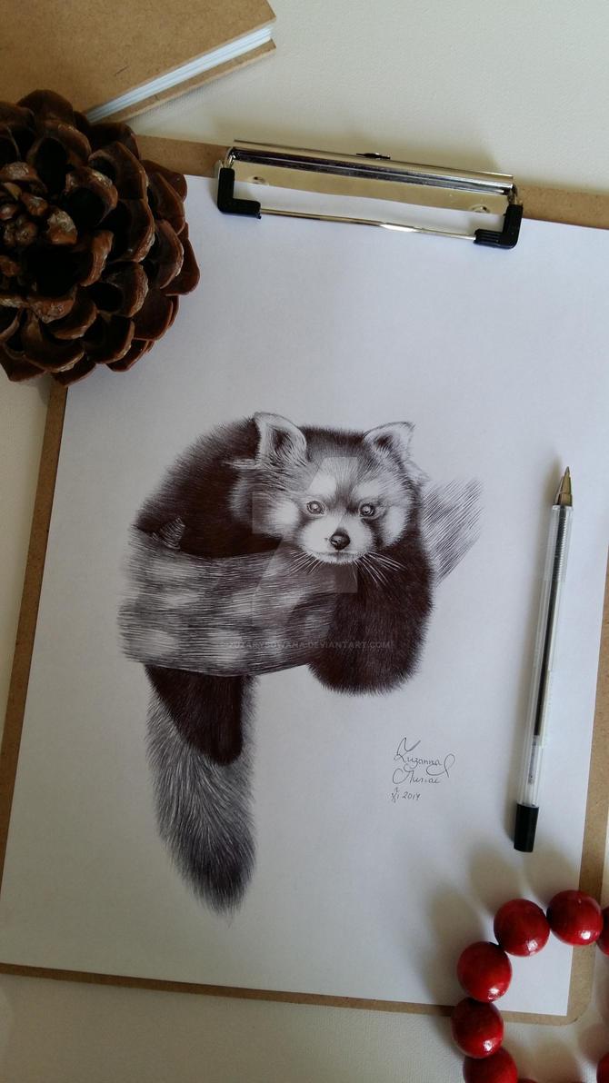 Red pand... by Zuzarysowana