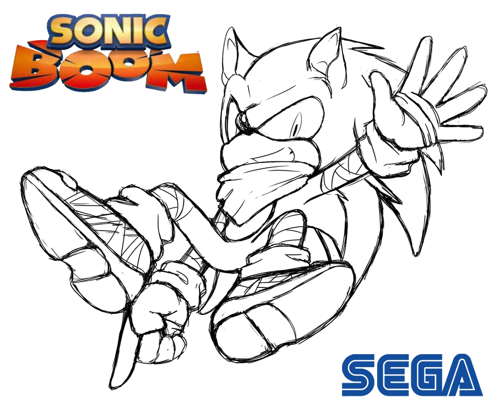 sonic boom coloring pages - sonic booms cloud free coloring pages