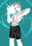 Male Wii Fit Trainer Salute to Sun and Deep Breath