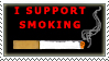 I Support Smoking Stamp by DancingMouse