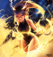 Thunder God Yoruichi by JohnnyAzad