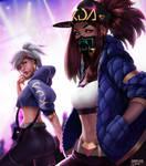 KDA Akali and Riven