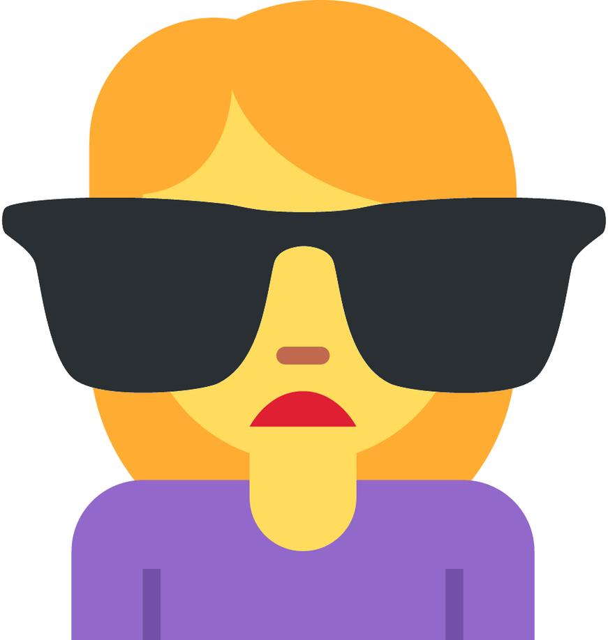 Discord Custom Emoji -Woman Sunglasses Emoji by mariomarioaqw on ...