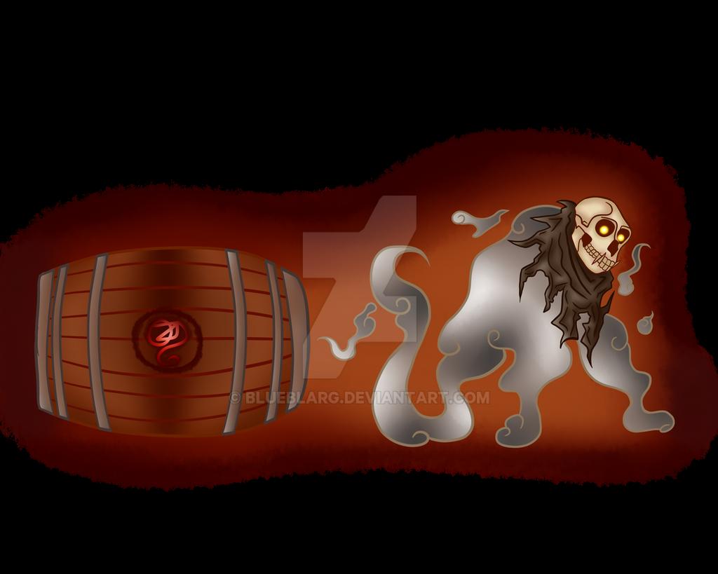 Ghost Monkey Skull by BLUEBLARG