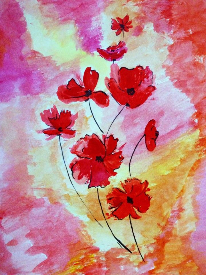 Watercolor Flowers by nupursanyal