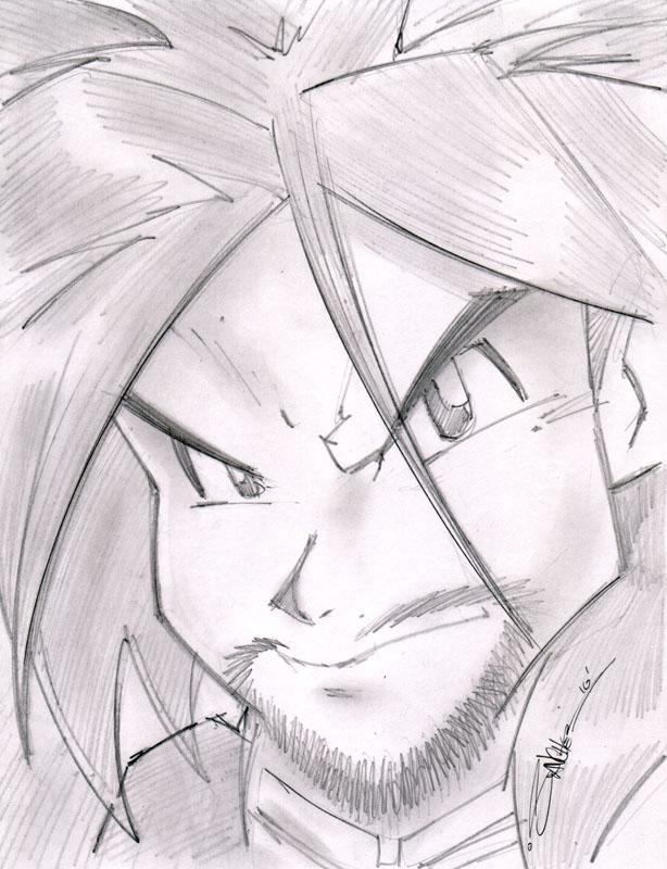 SSJ4 Sketchshot by StevenSanchez