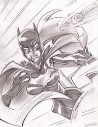 Batgirl Bullet Time Sketchshot by StevenSanchez