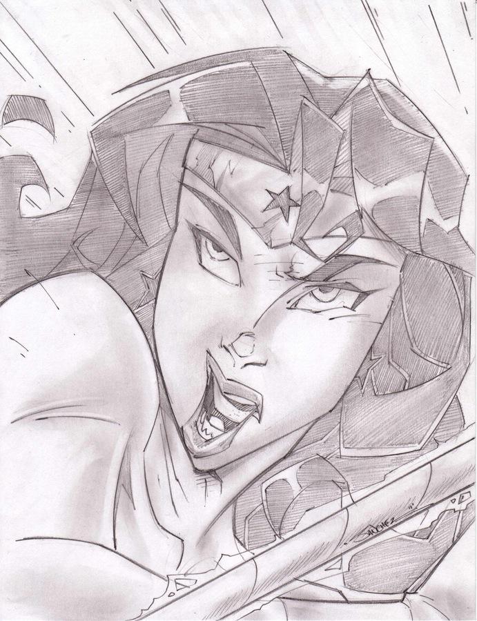 Wonder Woman Sketch Shot by StevenSanchez