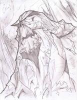 Swamp Thing Sketch Shot by StevenSanchez