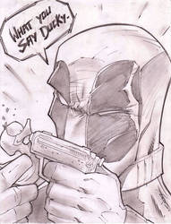 Deadpool Sketch Shot by StevenSanchez