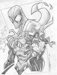 Spidey Blackcat Half Body by StevenSanchez