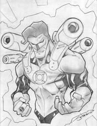 Green Lantern Gun Ready by StevenSanchez