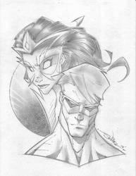 Star Sapphire and Lantern by StevenSanchez