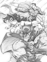 JLA ATTACK by StevenSanchez