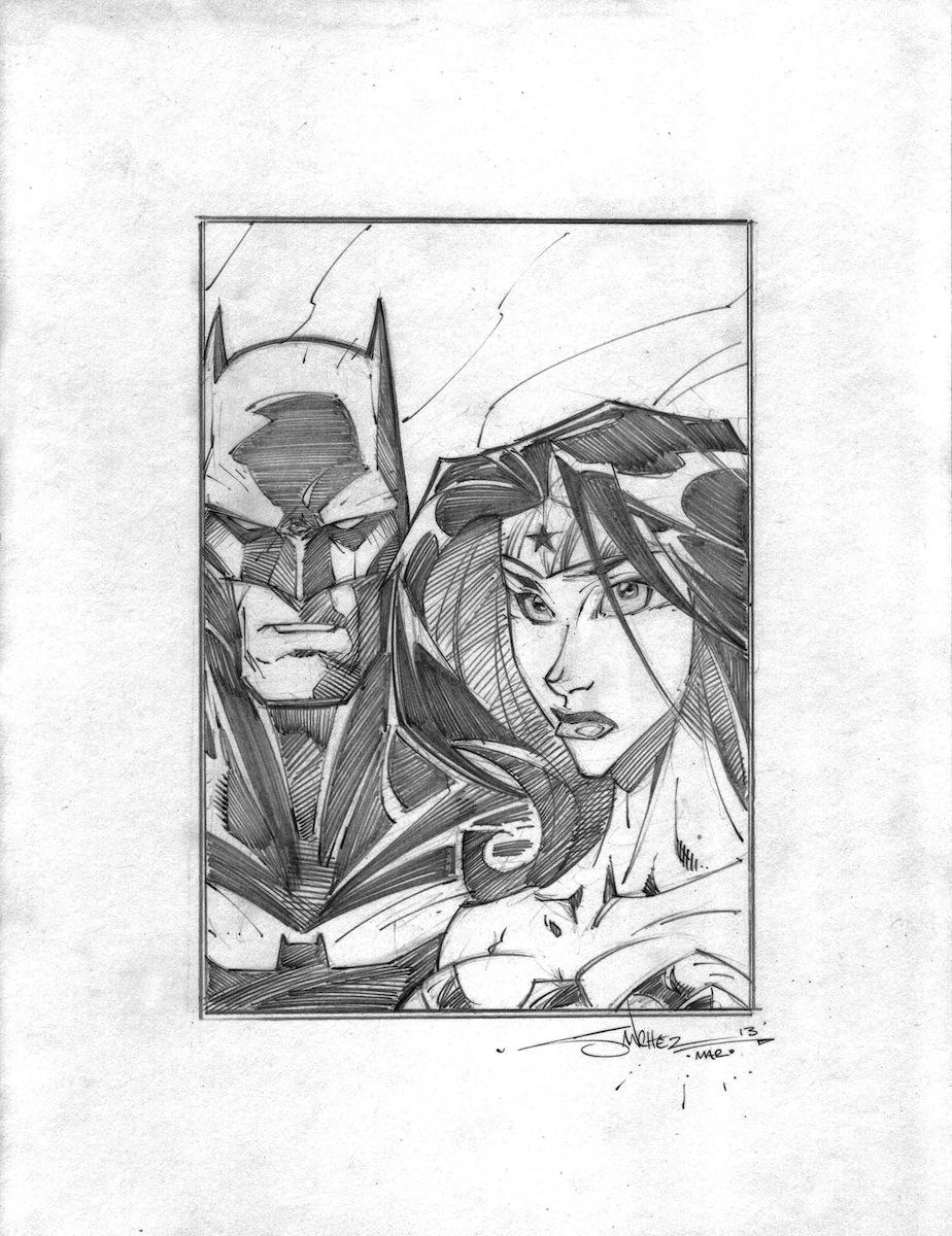 Batman Wonder Woman by StevenSanchez