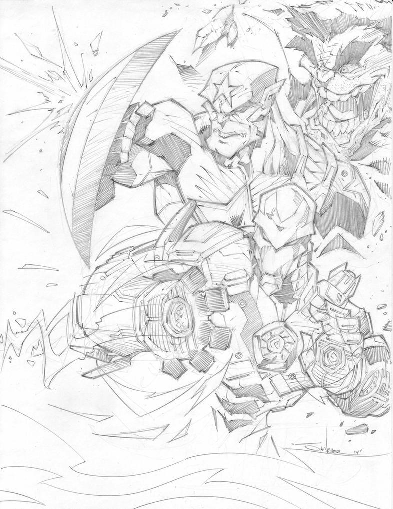 Avengers Battle by StevenSanchez