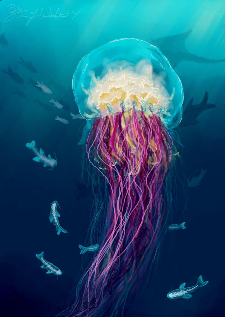 Jellyfish by pyro-helfier on DeviantArt