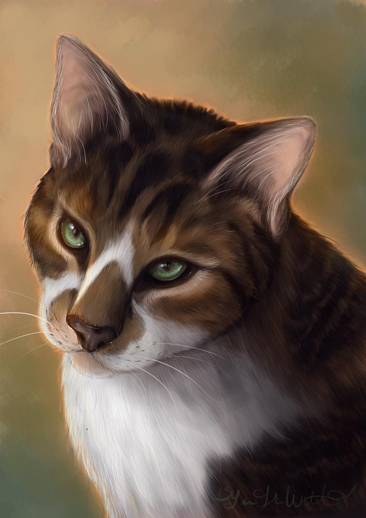 Cat Painting by pyro-helfier