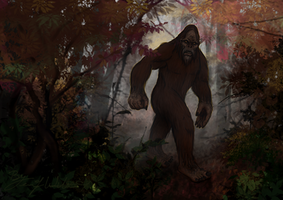 October: Bigfoot by pyro-helfier