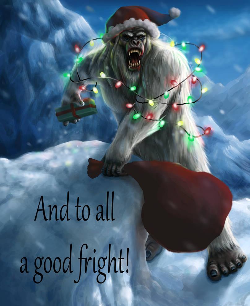 Yeti Christmas to All... by pyro-helfier