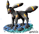 Umbreon pixel by Ravoilie