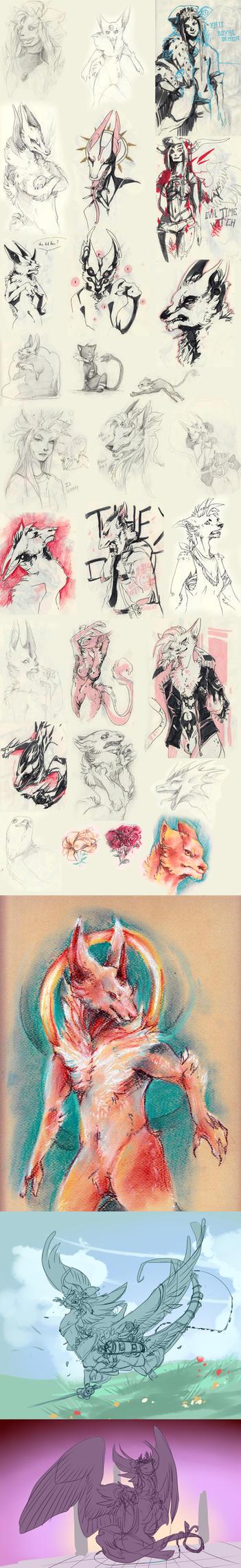Doodle dump 7 by Ravoilie