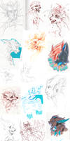 Doodle Dump 12 by Ravoilie