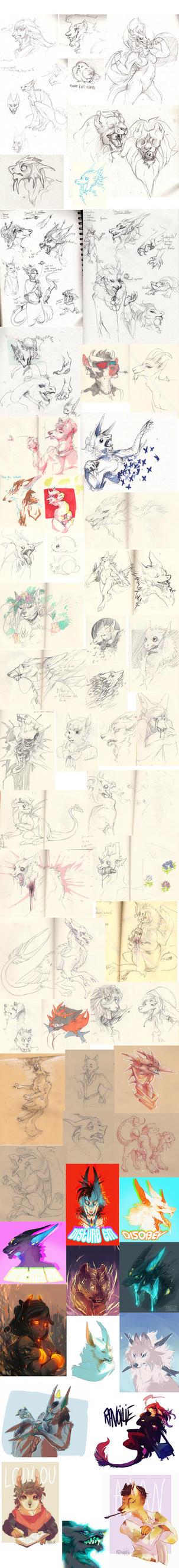 Doodle dump 19 by Ravoilie