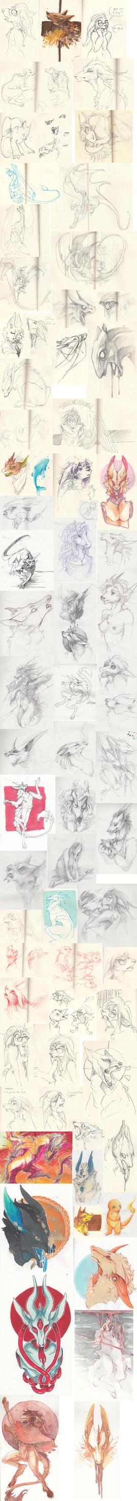 Doodle dump 20 by Ravoilie