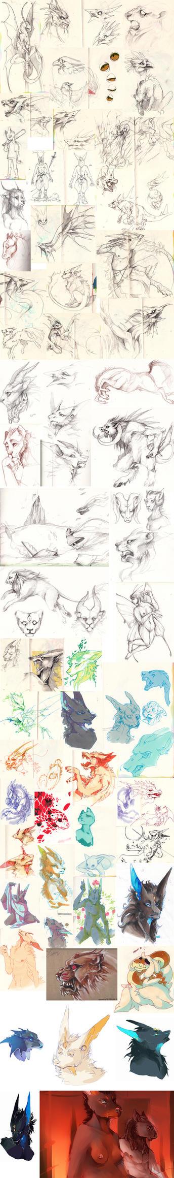 Doodle dump 24 by Ravoilie