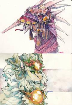 -Traditionnal art- Dragons
