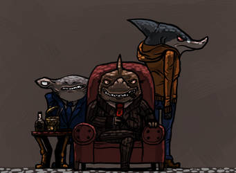 Shark Gangsters by Leveled-Up-Mango