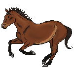 Bay Horse Pixel by DressageRider4life