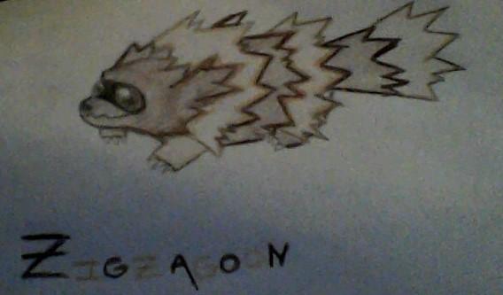 Zigzagoon by flyntgrey