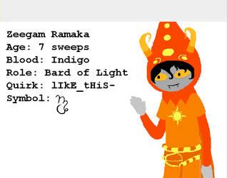 Zeegam Ramaka Homestuck OC