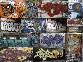 UrbaN Graffiti Collage by OmegaH32