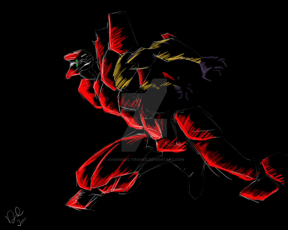 Neon Genesis Evangelion Unit 02 Wallpaper
