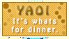 Yaoi: Dinner