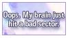 Oops, Brain Fart