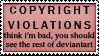 Copyright Violation by Foxxie-Chan