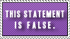False Statement by Foxxie-Chan