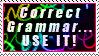 Correct Grammar by Foxxie-Chan