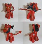 Hellboy Pony Custom by ashy-slashy