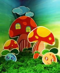 mushroom city by Giggx