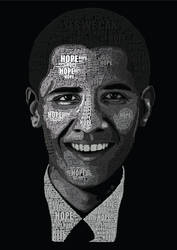 Typography Obama by Giggx